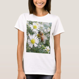 Bees Honey Bee Wildflowers Flowers Daisies Photo T-Shirt