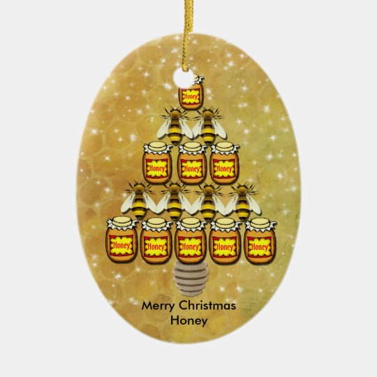 Bee's & Honey Jars Christmas Tree - Ornament