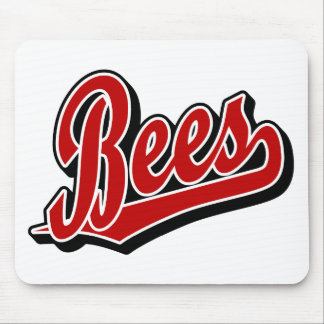 Bees in Red Mouse Pad