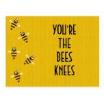 bees knees postcards