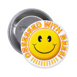 Bees Obsessed Smile Pinback Buttons