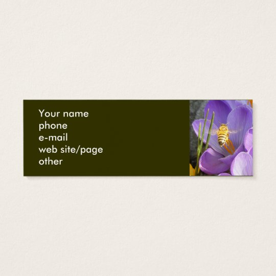 Bees on Crocus ~ profile card