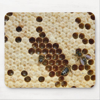 Bees On Honey Comb Mousepad