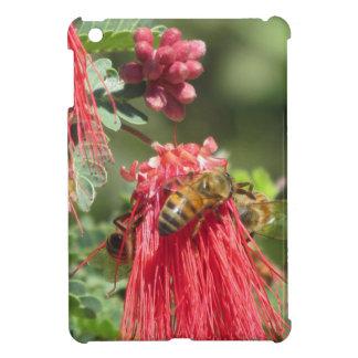 Bees on Pink Flowers iPad Mini Case