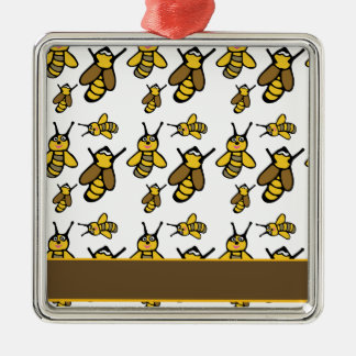 Bees Pattern Christmas Ornament