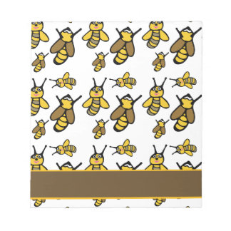 Bees Pattern Notepad