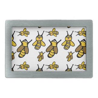 Bees Pattern Rectangular Belt Buckles