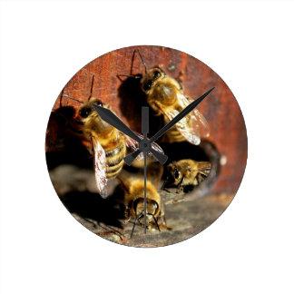 Bees Round Clock