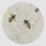 Bees Round Sticker