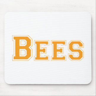 Bees square logo in orange mouse pad