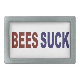 Bees Suck Rectangular Belt Buckles