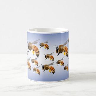 Bees Swarming Basic White Mug