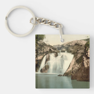 Beesley Falls, Ingleton, Yorkshire, England Double-Sided Square Acrylic Key Ring