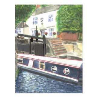 Beeston Canal Lock House Nottingham Postcard