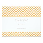 Beeswax Chevron Print Save the Date Annoucement Invitations