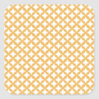 Beeswax Colour And White Seamless Mesh Pattern Square Sticker