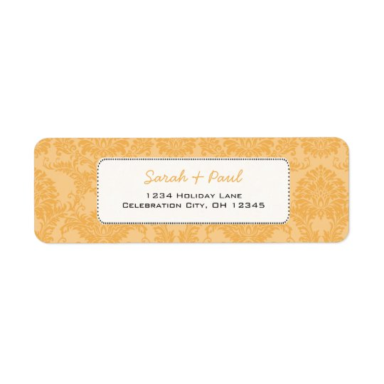 Beeswax Vintage Damask Return Address