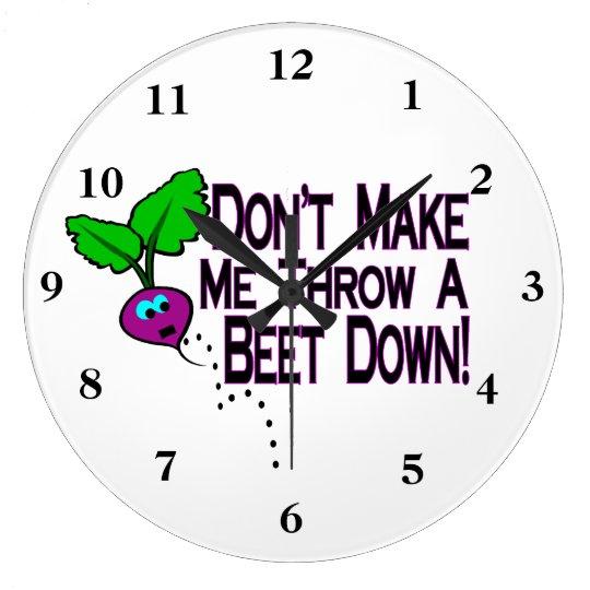 Beet Down Large Clock