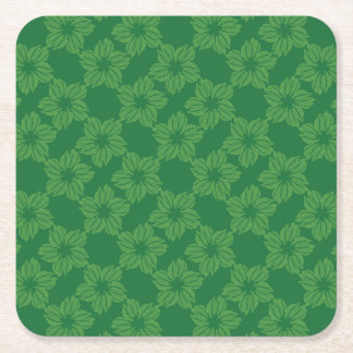 Beet Leaves Square Paper Coaster