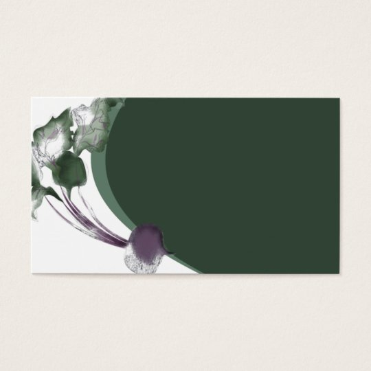 Beet vegetable cooking culinary business card