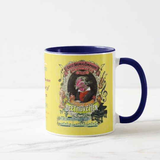 Beethovehen Funny Hen Animal Composer Beethoven Mug