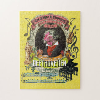 Beethovehen Great Animal Composer Beethoven Parody Jigsaw Puzzle