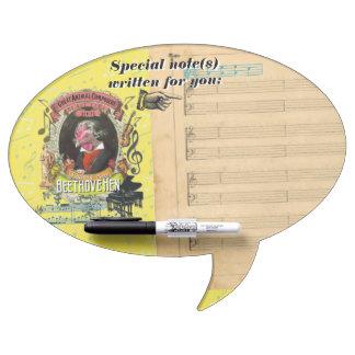 Beethovehen Hen Animal Composer Beethoven Spoof Dry Erase Board