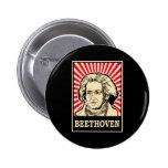Beethoven 6 Cm Round Badge