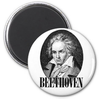 Beethoven 6 Cm Round Magnet