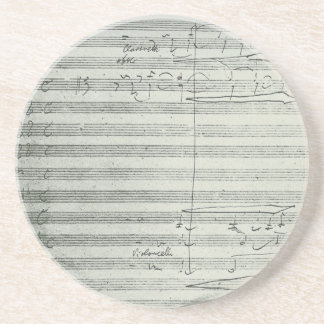 Beethoven 9th Symphony, Music Manuscript Coaster
