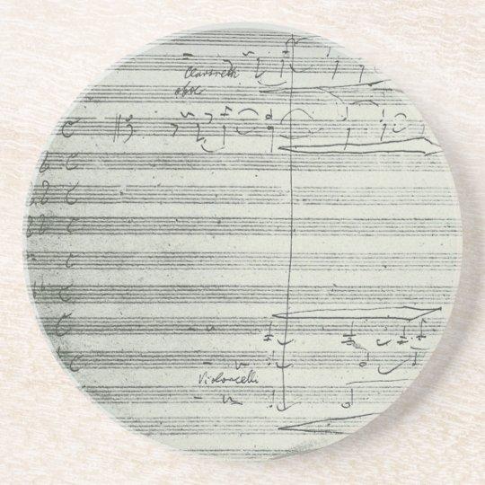 Beethoven 9th Symphony, Music Manuscript Coaster