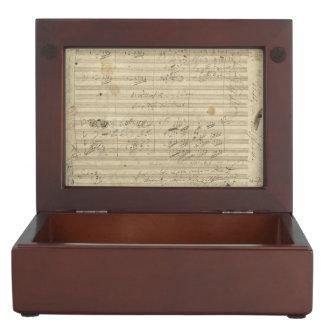Beethoven 9th Symphony, Music Manuscript Keepsake Box