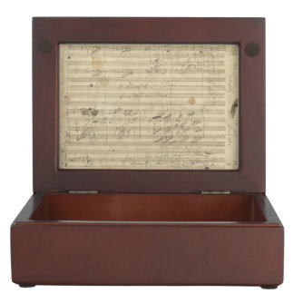 Beethoven 9th Symphony, Music Manuscript Keepsake Boxes