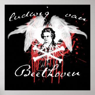 Beethoven bedroom poster