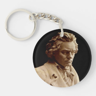 Beethoven bust statue key ring
