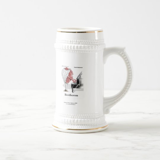 Beethoven Cartoon On Quality Funny Beer Stein