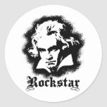 Beethoven Classic Round Sticker