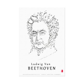 Beethoven Face the Music Canvas Print