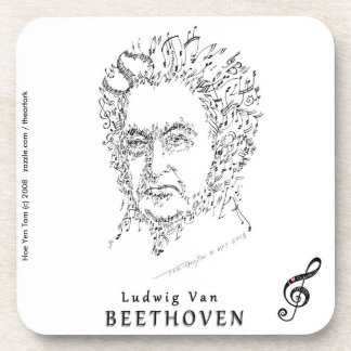 Beethoven Face the Music Drink Coasters