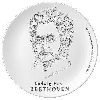 Beethoven Face the Music Porcelain Plates
