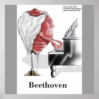 Beethoven Funny Designer/Cartoon Poster Print Print