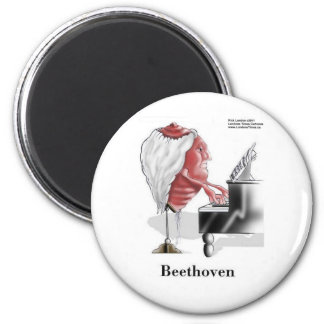 Beethoven Funny Gifts Tees Mugs Cards Etc 6 Cm Round Magnet