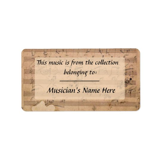 Beethoven Hammerklavier Sonata Manuscript Label Address Label