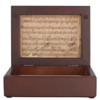 Beethoven Hammerklavier Sonata Music Manuscript Keepsake Boxes