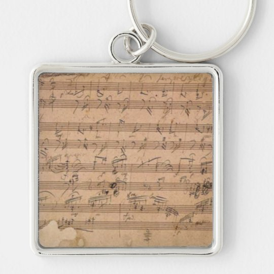 Beethoven Hammerklavier Sonata Music Manuscript Key Ring