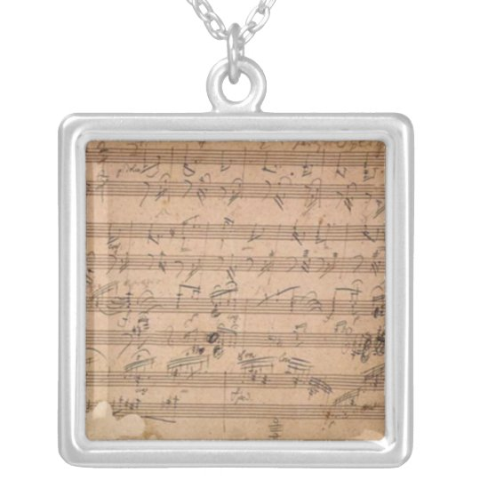 Beethoven Hammerklavier Sonata Silver Plated Necklace