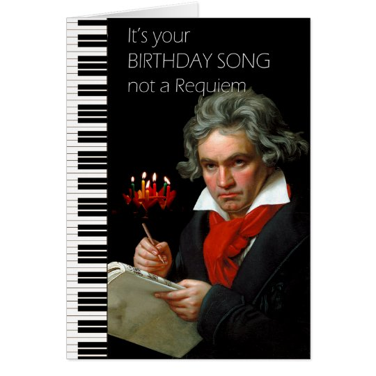 Beethoven Humour Birthday Card