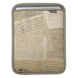 Beethoven Manuscript Medley iPad Sleeve