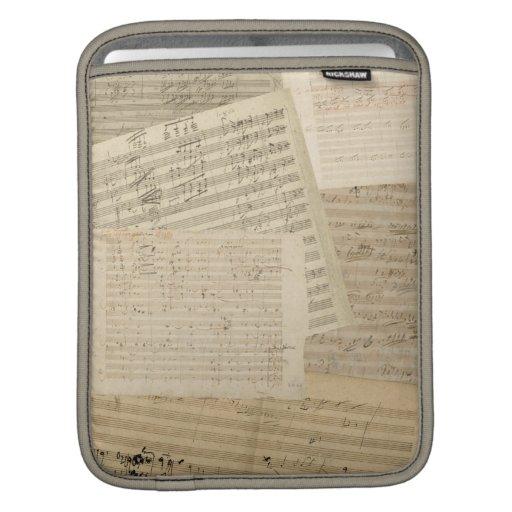 Beethoven Manuscript Medley iPad Sleeves