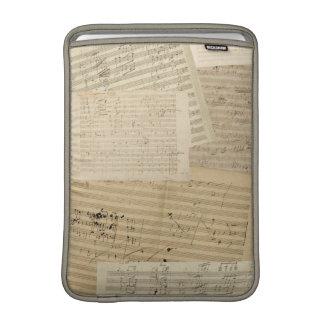 Beethoven Manuscript Medley MacBook Sleeve